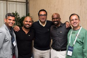 Suresh Ramdas (second from right) with old and new friends at the 2017 Workplace Summit.